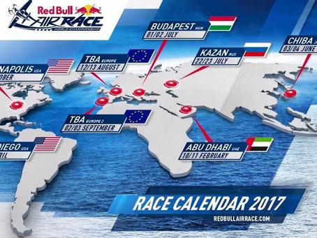 Calendario Red Bull Air Race 2017 - si inizia con Abu Dhabi