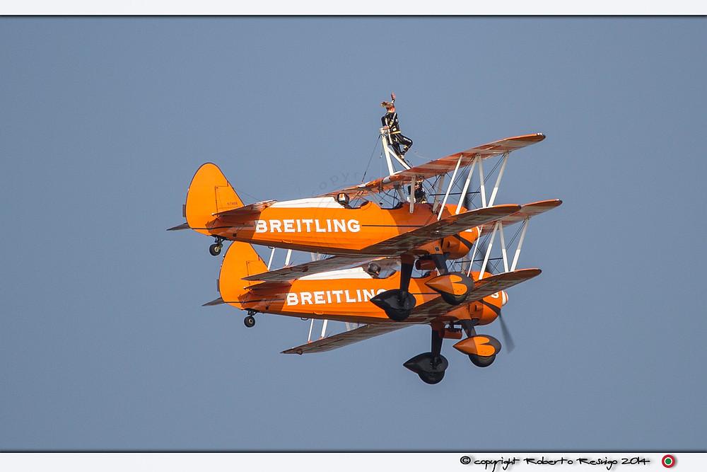 breitling wing walkers, volo acrobatico, acrobazia aerea, manifestazione, rivolto, 55 anniversario pan