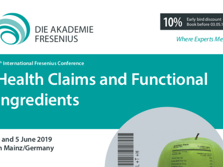 Health claims, Botanicals and Functional ingredients at the 9th International Fresenius Con
