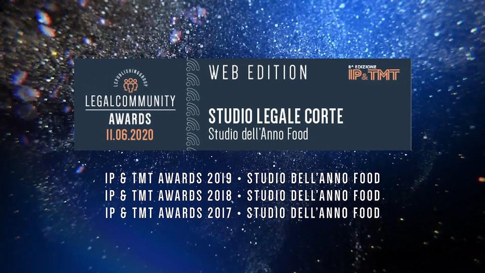 """Studio Legale Corte vince il premio """"studio dell'Anno Food"""" per il quarto anno consecutivo"""