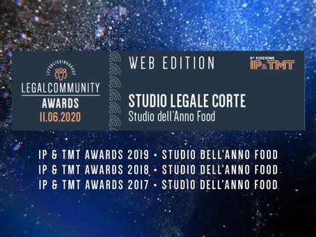 LC premia Studio Legale Corte come Studio dell'Anno Food per il 4^ anno consecutivo