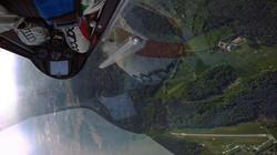 Luca Bertossio in volo