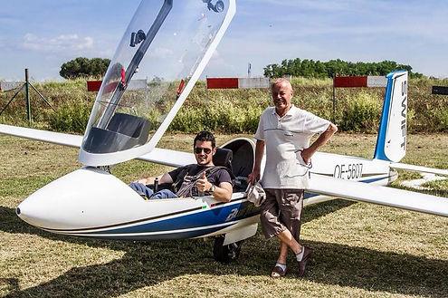 volo acrobatico: Ferrarese con il padre