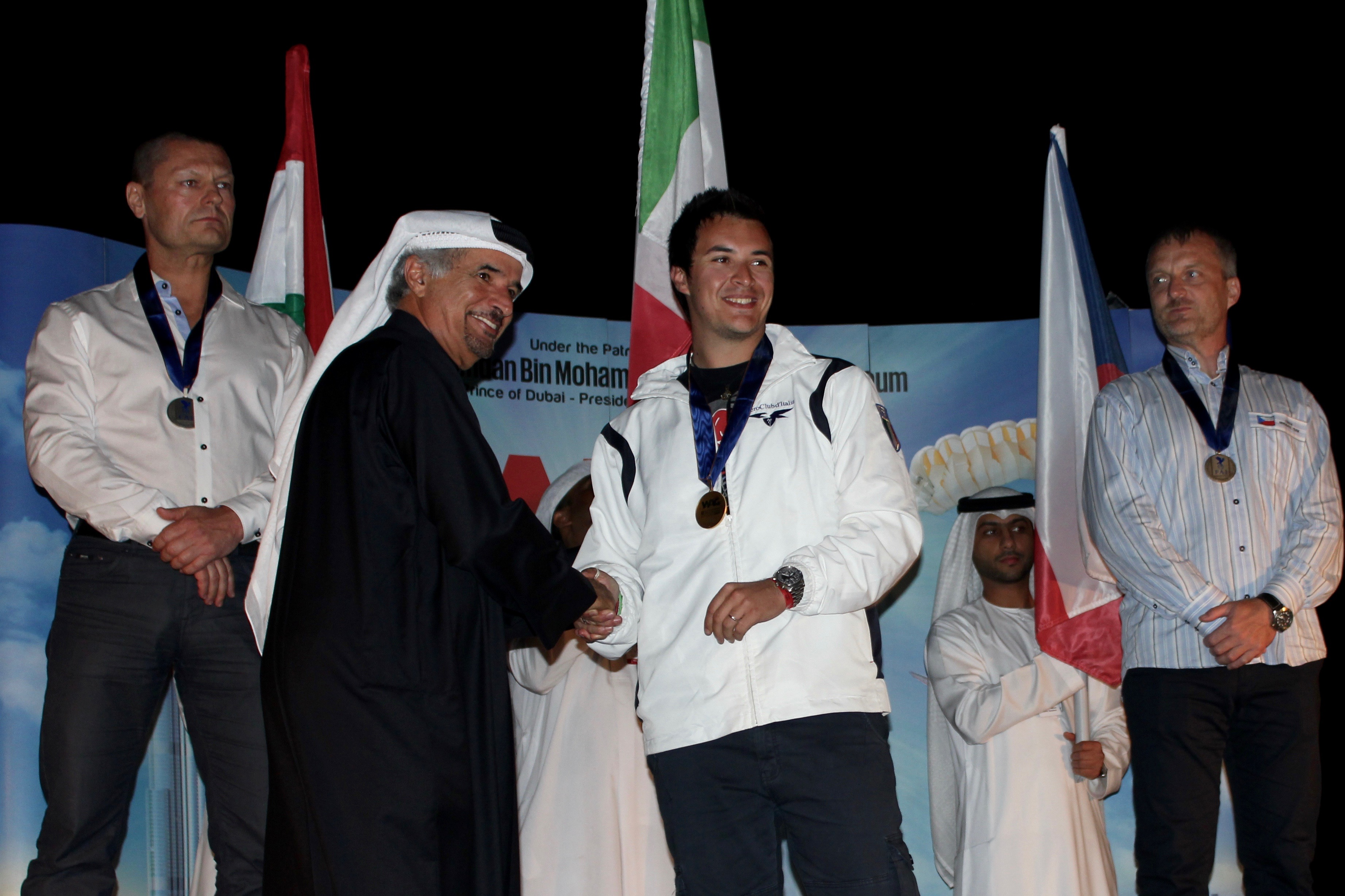 podium WAG Dubai glider aerobatics