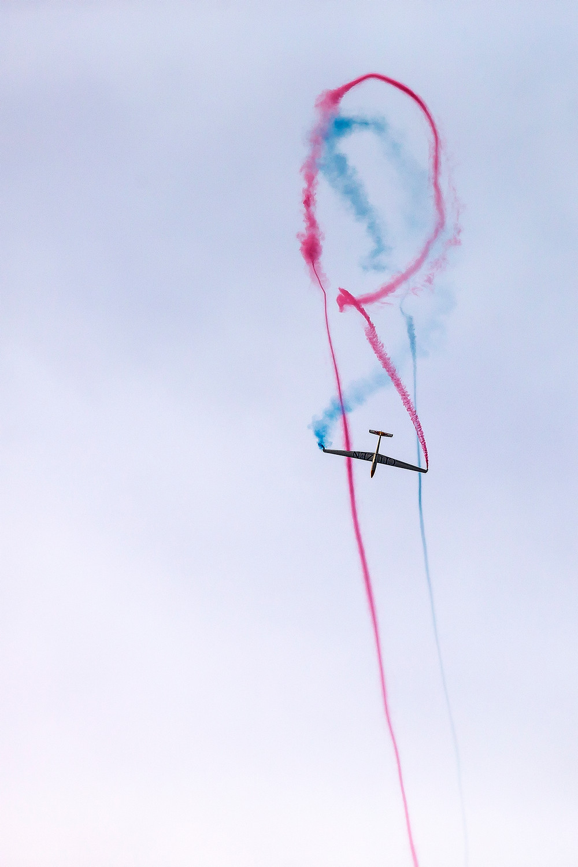 volo acrobatico Bertossio aliante Red Bull