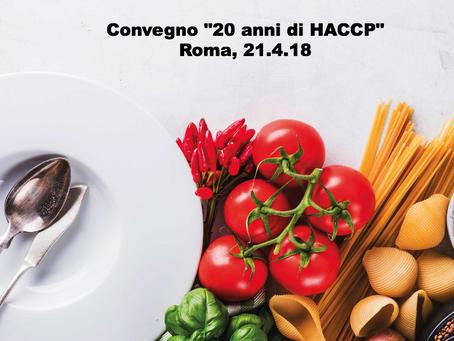 """Avv. Elena Corte relatrice al Convegno """"20 anni di HACCP""""  Roma, 21 Aprile 2018"""