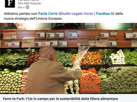 Forbes intervista Paola Corte sulla strategia UE Farm to Fork per favorire la sostenibilità