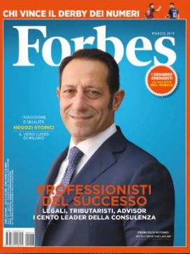 Copertina di Forbes in cui compare Studio Legale Corte tra i 100 leader della consulenza