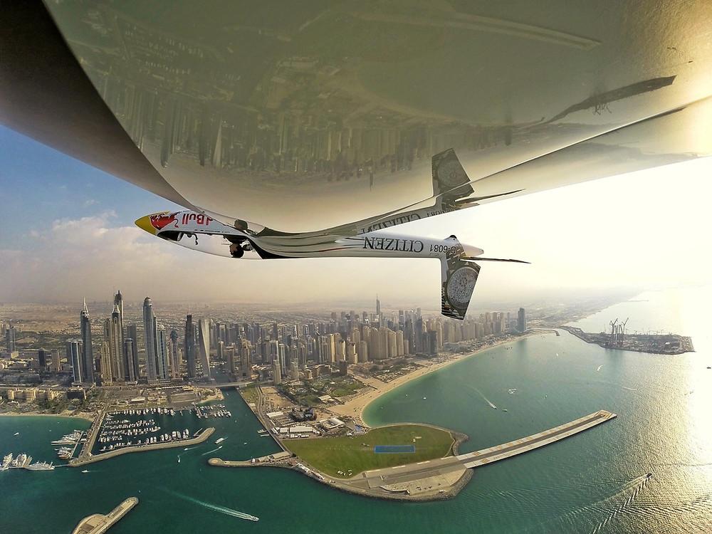 Luca Bertossio over Skydive Dubai