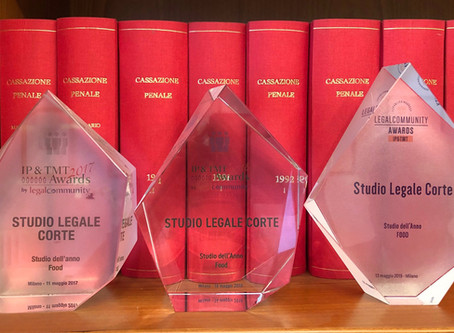 The food law firm of the year is Studio Legale Corte for the 3rd consecutive year