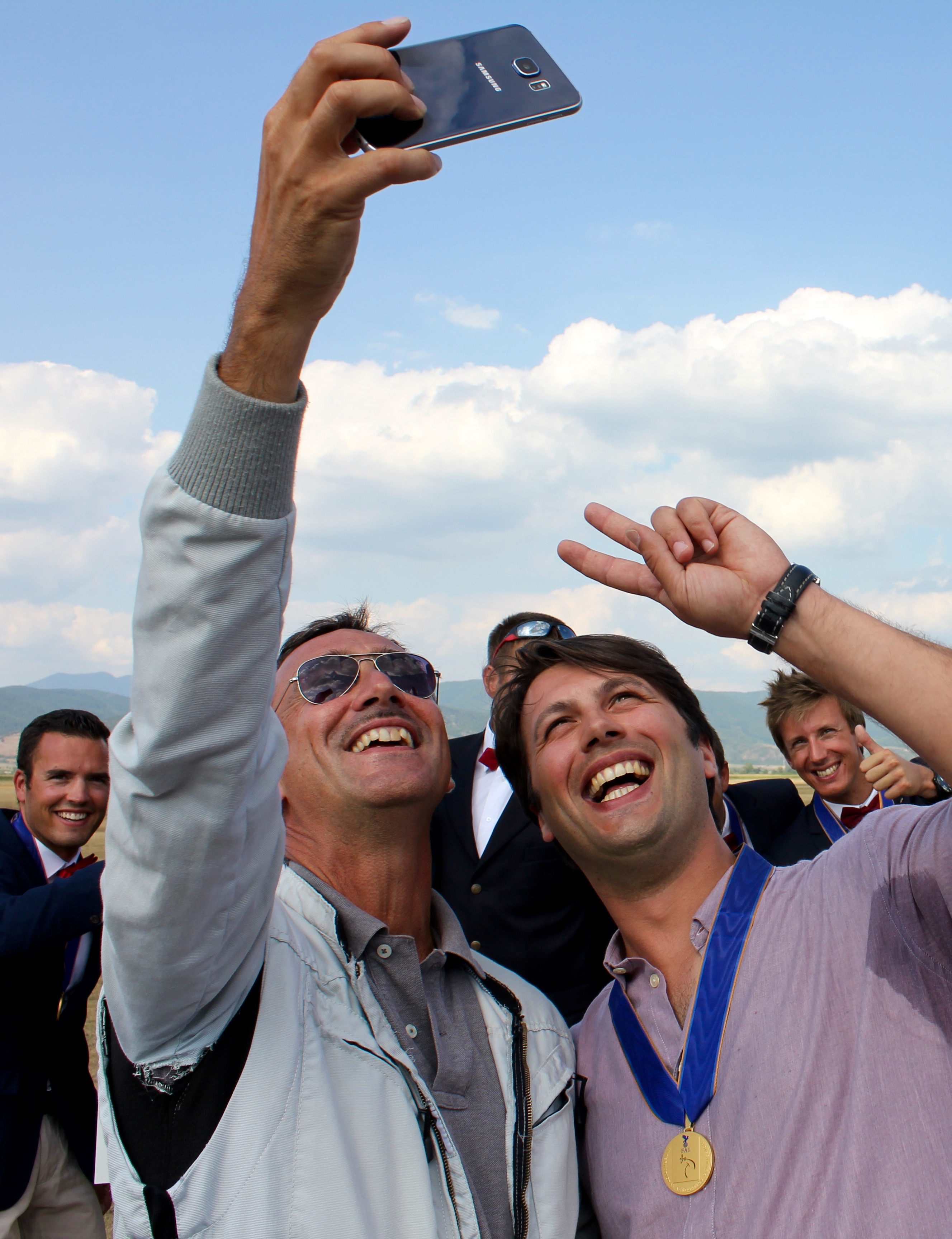 volo acrobatico: selfie