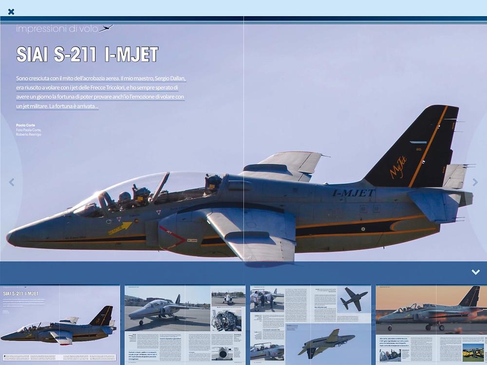 VFR Aviation, Agosto, 2016, volo acrobatico, S211, Siai MJET, acrobazia, Bertacchi, Canetto