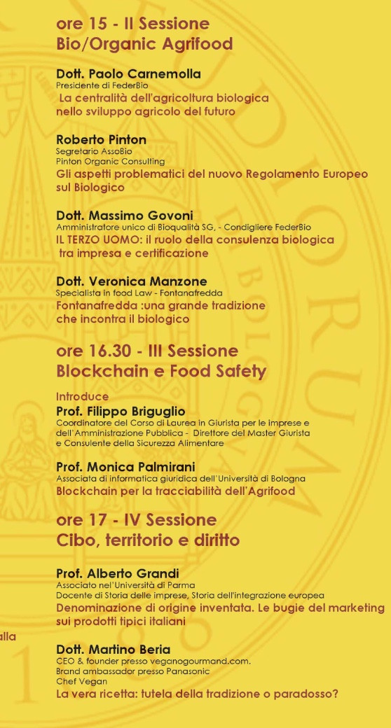 Congresso Ravenna Law and food Safety