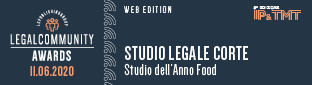 "Studio Legale Corte is Legalcommunity's ""Food Law Firm of the Year"" for the 4th year in a row"