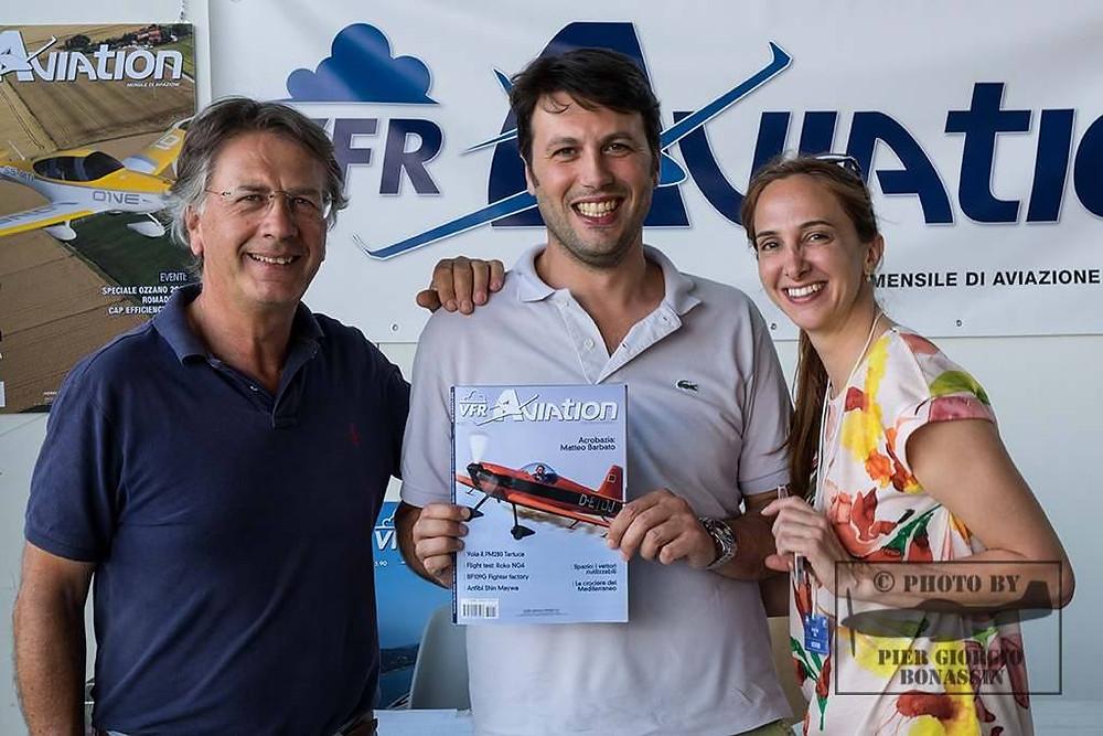 Rodolfo Biancorosso, Matteo Barbato, Paola Corte, copertina VFR Aviation