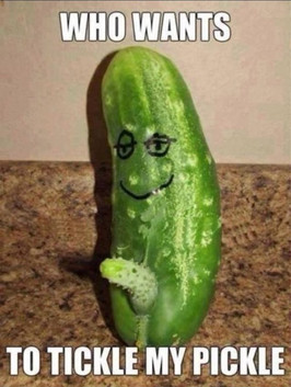Who wants to tickle my pickle