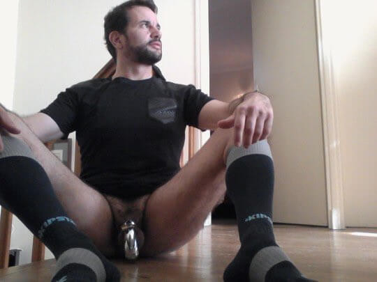 Metal Cock Cage Male Chastity