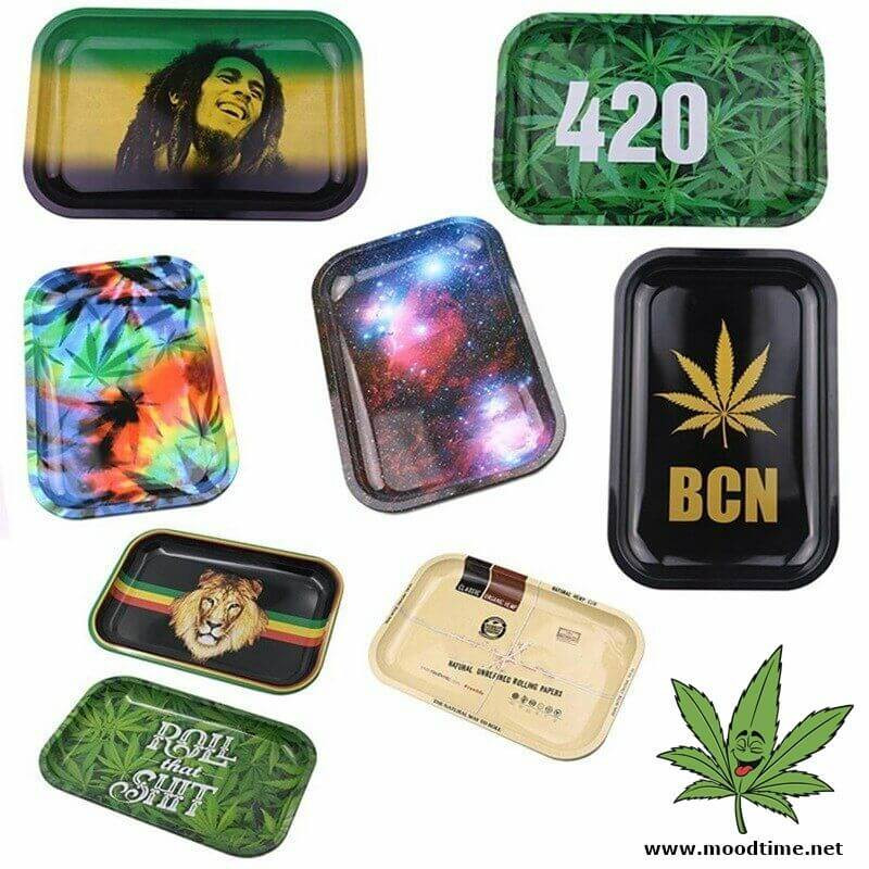 Metal Rolling Tray Moodtime Smoking Accessories