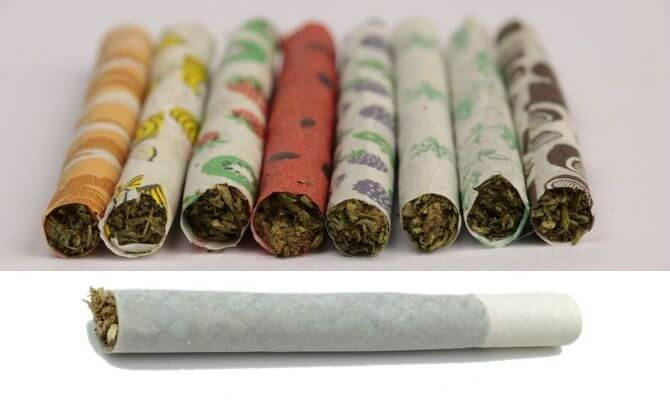 Flavored Rolling Papers Weed Joints