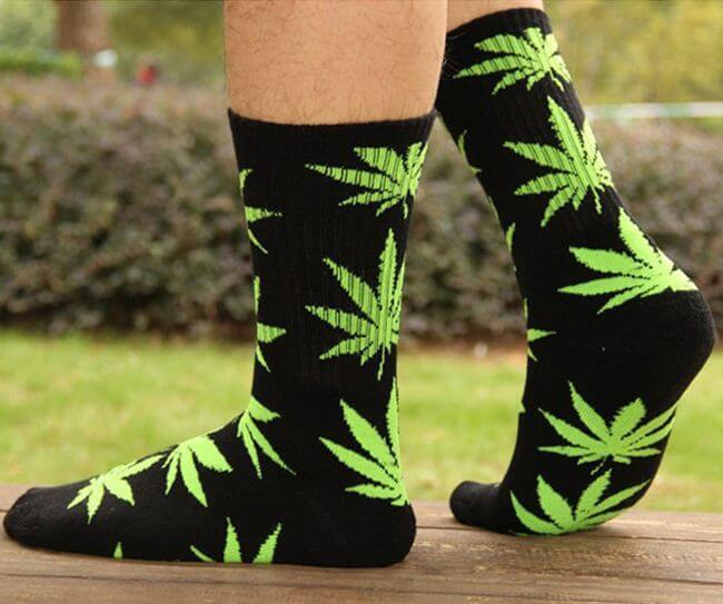 Weed Cannabis Leaf Sexy Socks