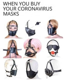 Designer Coronavirus masks, you don't want to look silly.