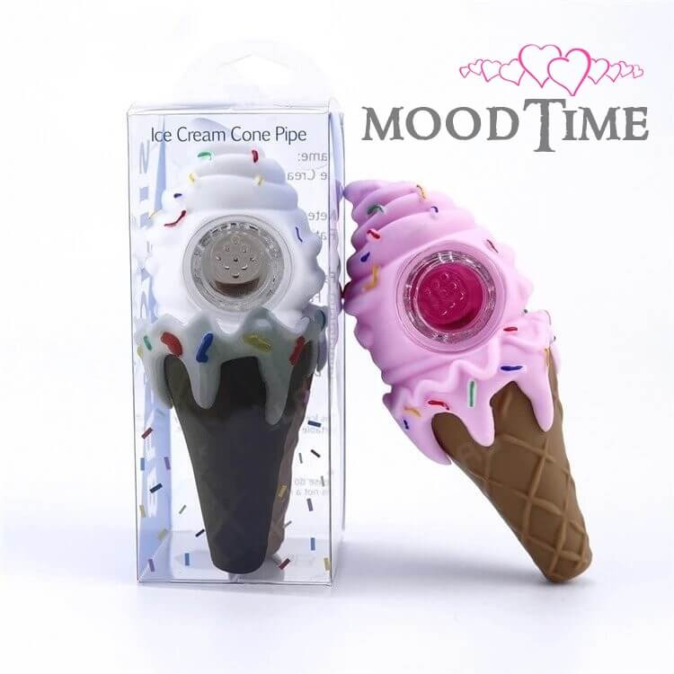 Silicone Ice Cream Weed Smoking Pipe
