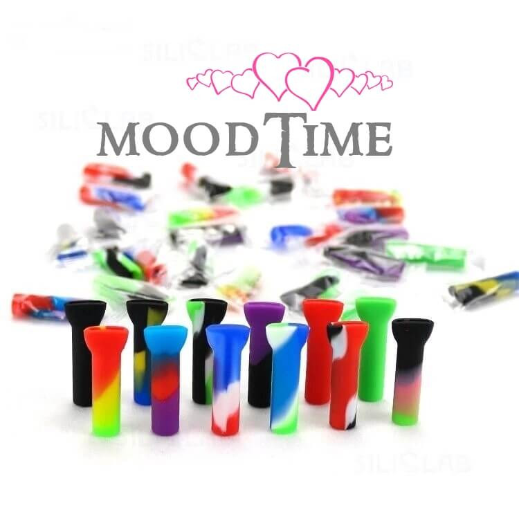 silicone filter tip mouth piece weed smoker moodtime