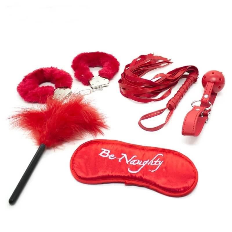 5Pcs Be Naughty Red BDSM Set | moodTime