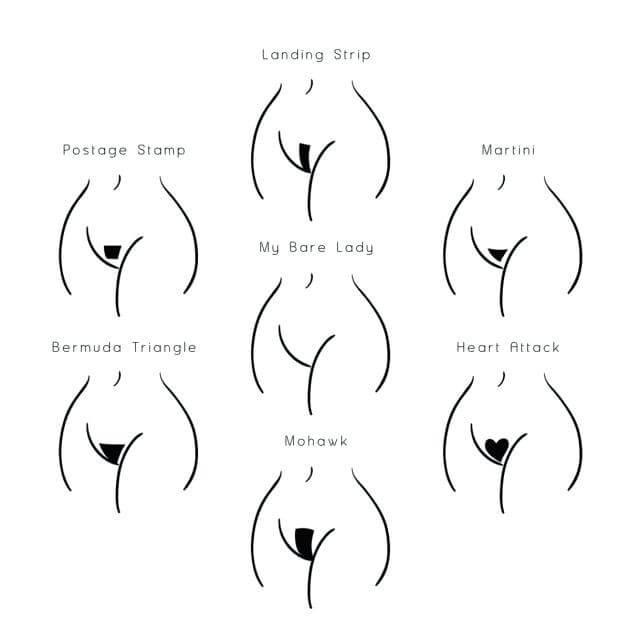 Woman pubic hair designs