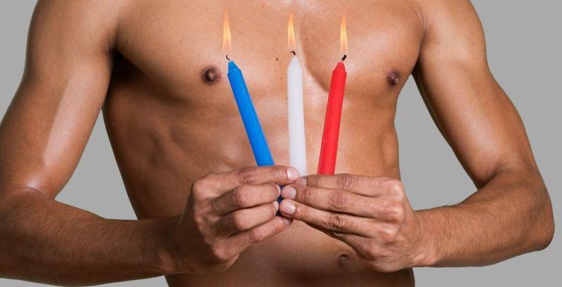 3pcs low temperature sex candles