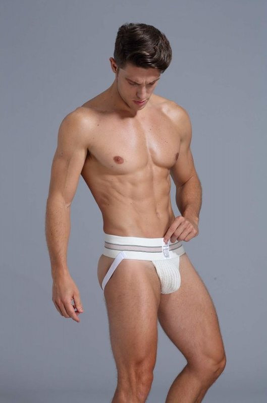 Mens sexy white jockstrap from moodtime