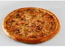 Пицца Мясной пир (колбасы, грудка, фарш, томаты)