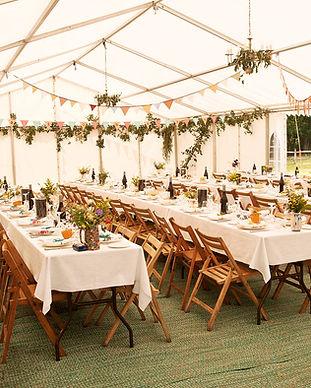 結婚式のテント