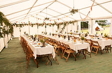 Rent tables, chairs, tent, flatware for your DIY Wedding