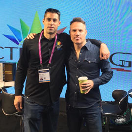 With Rami from Spectrum King LED and 818Brands at MJbizCon