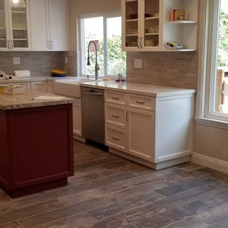 Custom Cabinets Farmhouse Sink After