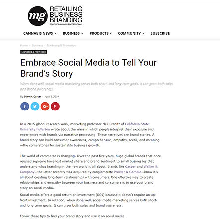 How to find brand story