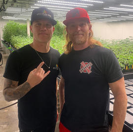 With Red at his Redline Reserve grow facility