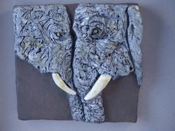 COUPLE D'ELEPHANT