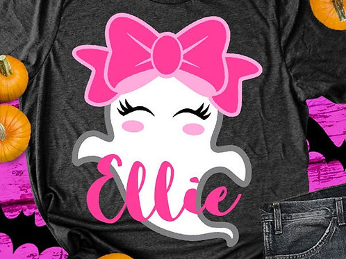 Personalized Halloween Shirt- Girl Ghost