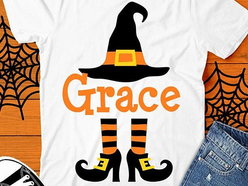 Personalized Halloween Shirt- Witch