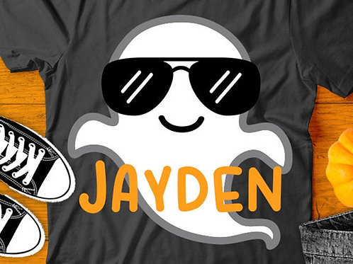 Personalized Halloween Shirt- Cool Ghost