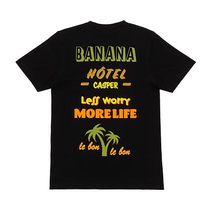 'Banana' black tee