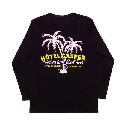 'StayChillBill' black l/s tee