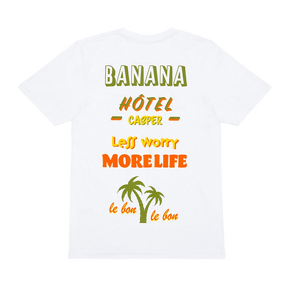 'Banana' white tee
