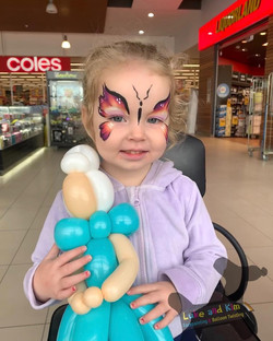 facepainting balloon Gippsland