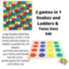 2 games in 1 Snakes and Ladders & Twist