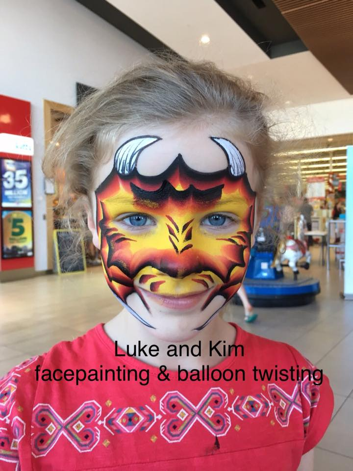 facepainting face paint pakenham car