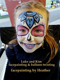 facepainting, balloon twisting, Luke