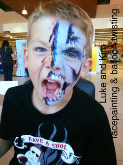 facepainting face painting Balloon t